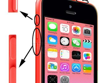 3 in 1 (Mute Button + Power Button + Volume Button) for iPhone 5C, Pink