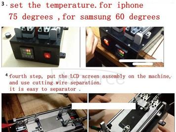 Touch Panel LCD Separator Glue Disassemble Machine for iPhone / Samsung / HTC / Sony etc. Support LCD Panel Size: 20 cm x 11 cm (AC 110 - 220V)
