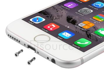 100 PCS for iPhone 6s & 6s Plus Universal Charging Port Screws(White)