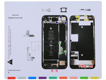 Magnetic Screws Mat For iPhone 8 , Size: 25cm x 20cm
