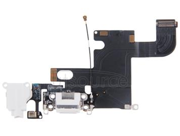 Charging Port Dock Connector Flex Cable  for iPhone 6(White)