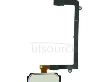 Home Button Flex Cable with Fingerprint Identification  for Galaxy S6 edge / G925(White)