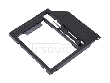 2.5 inch SATA3 Hard Disk Drive HDD Caddy Adapter Bay Bracket for Apple Macbook(Black)