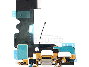 Charging Port + Audio Flex Cable for iPhone 7(White)