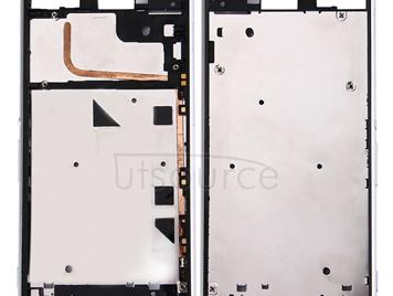 Front Housing LCD Frame Bezel for Sony Xperia Z3 (Single SIM) (White)