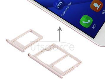 SIM Card Tray + Micro SD & SIM Card Tray for Galaxy J5 Prime / G570 & J7 Prime / G610(Gold)