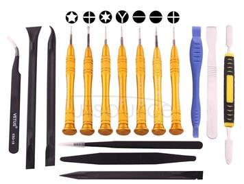 SW-1090-7 16 in 1 Professional Multi-purpose Repair Tool Set with Carrying Bag for iPhone, Samsung, Xiaomi and More Phones
