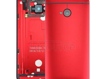 Back Housing Cover for HTC One M7 / 801e(Red)