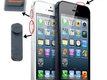 3 in 1 for iPhone 5 (Mute Button + Power Button + Volume Button)(Black)