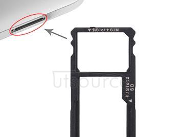 SIM Card Tray + SIM Card Tray / Micro SD Card for Huawei G8 (Silver)