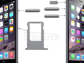 Original Card Tray & Volume Control Key & Screen Lock Key & Mute Switch Vibrator Key Kit for iPhone 6(Grey)