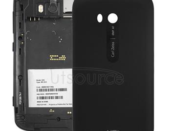 Smooth Surface Plastic Back Housing Cover for Nokia Lumia 822(Black)