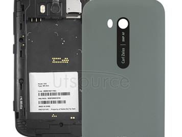 Smooth Surface Plastic Back Housing Cover for Nokia Lumia 822(Grey)