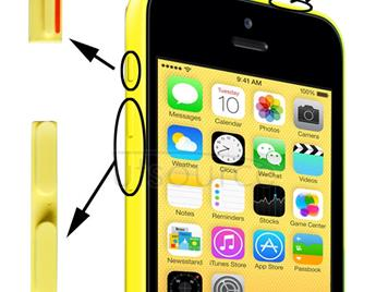 3 in 1 (Mute Button + Power Button + Volume Button) for iPhone 5C, Yellow