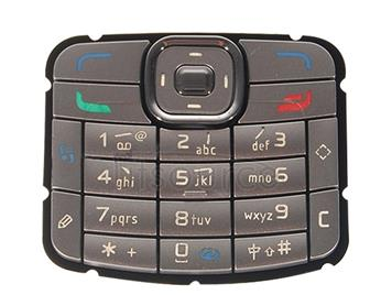 Mobile Phone Keypads Housing  with Menu Buttons / Press Keys for Nokia N70(Silver)
