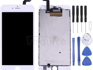 LCD Screen and Digitizer Full Assembly with Frame for iPhone 6s Plus(White)