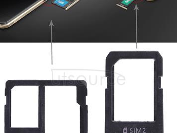 2 SIM Card Tray + Micro SD Card Tray for Galaxy A5108 / A7108(White)