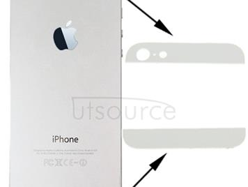 OEM Version Back Cover Top & Bottom Glass Lens for iPhone 5(White)