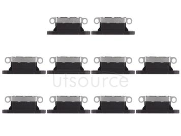 10 PCS Charging Port Connector for iPhone X(Black)