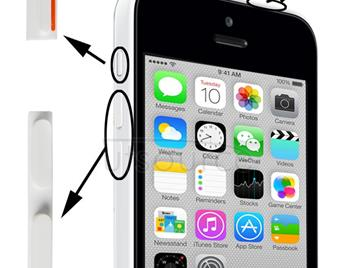 3 in 1 (Mute Button + Power Button + Volume Button) for iPhone 5C, White