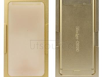 Aluminium Alloy + Silicone Precision Screen Refurbishment Mould Molds For Galaxy S6 Edge+ / G928