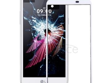 Front Screen Outer Glass Lens for LG X screen / K500 / K500N(White)