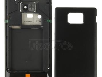 Original Full Housing Battery Back Cover Set for Galaxy S II / i9100 (Black)