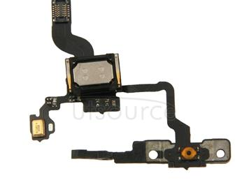 Original Sensor Flex Cable + Switch Flex Cable + Ear Speaker + Switch Frame for iPhone 4