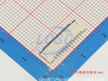 Boom Precision Elec FPC 1.0mmpitch 12P Clamshell Under the next(5pcs)