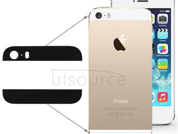 2 in 1 for iPhone 5S Ultra Slim Original (Top + Button) Glass Spare Parts(Black)