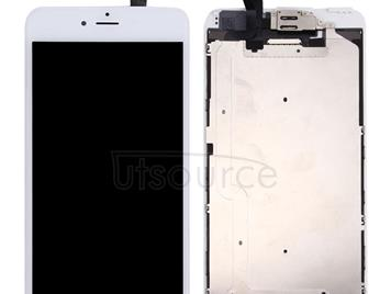 LCD Screen and Digitizer Full Assembly with Front Camera for iPhone 6 Plus(White)