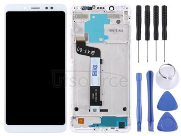 LCD Screen and Digitizer Full Assembly with Frame for Xiaomi Redmi Note 5(White)