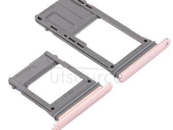 SIM Card Tray + Micro SD Card Tray for Galaxy A5 (2017) / A520 & A7 (2017) / A720 , Single Card(Pink)