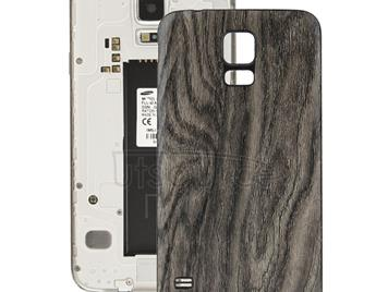 Wood Texture Plating Plastic Material  Back Cover for Galaxy S5 / G900(Grey)