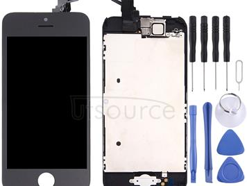 Digitizer Assembly (Front Camera + LCD + Frame + Touch Panel) for iPhone 5C(Black)