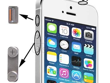 3 in 1 for iPhone 5S (Original Mute + Original Power + Original Volume) Button Kit, Alloy Material(Silver)