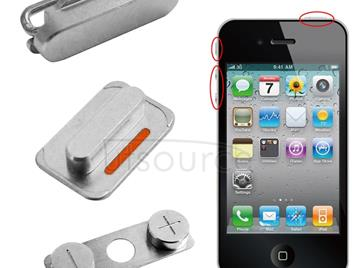Original Volume Key + Mute Switch Button Key + Lock Button Power Key Switch ON / OFF for iPhone 4S