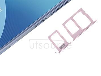 SIM Card Tray + SIM & Micro SD Card Tray for Galaxy J3 (2017) Dual SIM / J330 & J5 (2017) Dual SIM / J530 & J7 (2017) Dual SIM / J730(Rose Gold)