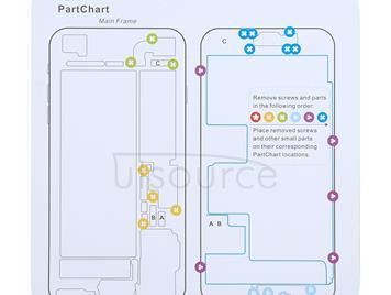 Magnetic Memory Screws Mat For iPhone X & 8 & 8 Plus & 7 & 7 Plus & 6s Plus & 6s & 6 & 6 Plus , Size: 17.8cm x 15.9cm