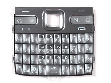 Mobile Phone Keypads Housing  with Menu Buttons / Press Keys for Nokia E72(Silver)