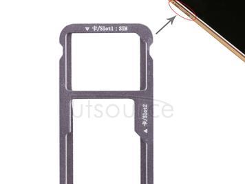 SIM Card Tray + SIM Card Tray / Micro SD Card for Huawei G9 Plus (Grey)