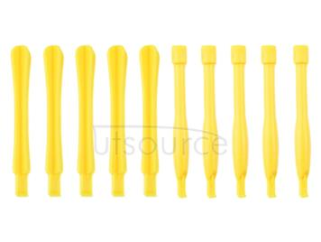 10 PCS Mobile Phone Repair Tool Spudgers (5 PCS Round + 5 PCS Square)(Yellow)