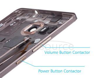OEM Back Cover with Fingerprint Sensor for Huawei Ascend Mate8 Mocha Brown