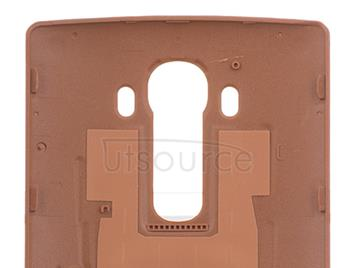 Custom Leather Battery Cover for LG G4 Brown