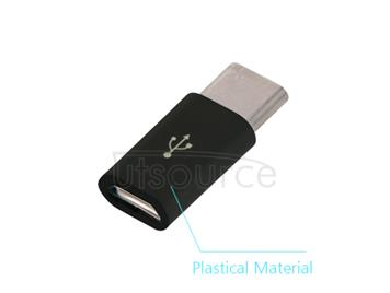 Plastic USB Type-C to Micro USB Adapter for OnePlus Two Black