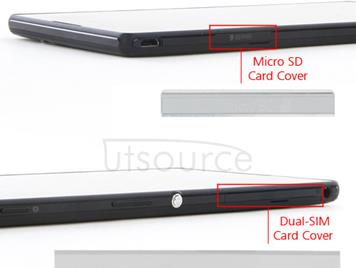 OEM Micro SD + SIM Cover Flap for Xperia T2 Ultra Dual White
