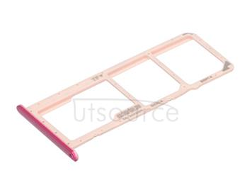 OEM SIM + SD Card Tray for Huawei Y7 Prime (2019) Red