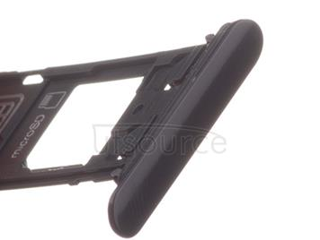 OEM SIM + SD Card Tray + Cover Flaps for Sony Xperia XZ Mineral Black