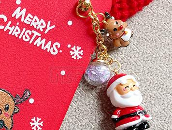 TPU Soft Case with Christmas Decoration Toy for iPhone 7/8 Red