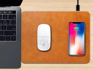 Q12 Wireless Charging Mouse Pad Brown